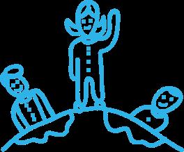 Dibujo Ilana, Cristina y Anthony